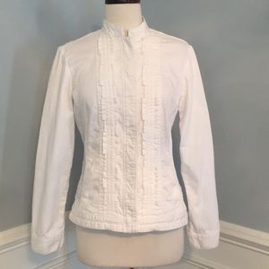 Chico's White Denim Jacket - Chico's Size 0